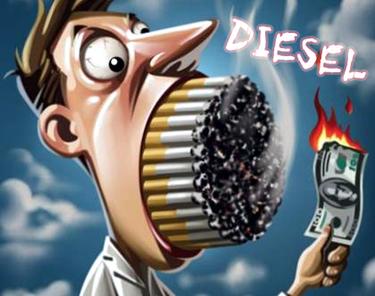 Dieselul este mai cancerigen decat tigara!
