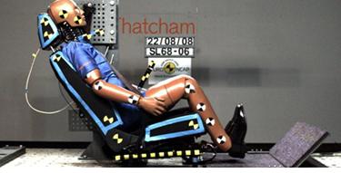 Whiplash test - testul scaunului la soc provenit din spate