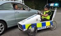 Vehicul cu pedale creat de copii
