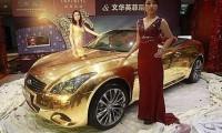 Infiniti G37 Convertible din aur